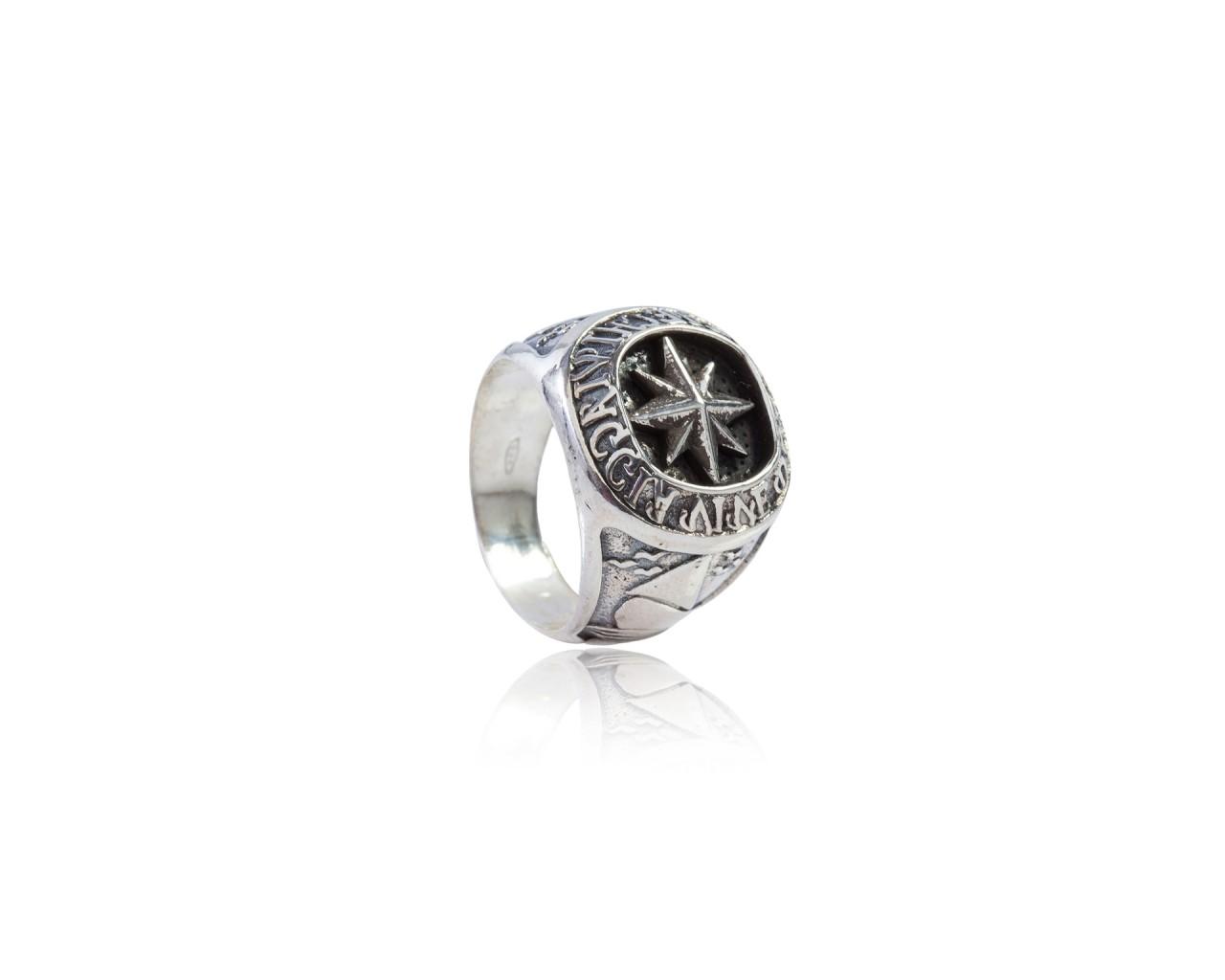 """Anello in argento 925 con finitura brunita  ANTC09 """"Chi viaggia vive due volte"""""""