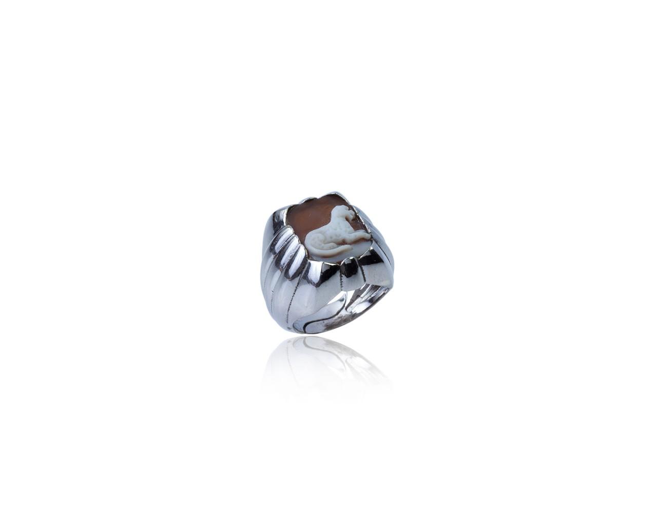 Anello in argento 925 in forma rettangolare